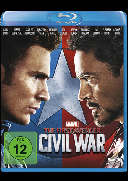 Blu-ray - The First Avenger - Civil War